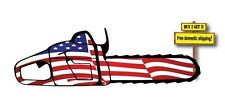 Chainsaw American Flag imposed on it United States Decal/Sticker Stihl Husqvarna