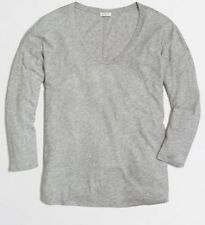 J Crew Factory NEW Draped Swing Tee Top Gray Scoopneck Size XL NWT $36.50