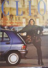 Prospekt DÉPLIANT RENAULT CLIO ELLE - SÉRIE LIMITÉE - 10/1992 - COMME NEUF