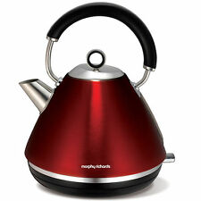Morphy Richards 102004 Metallic Red Accents Traditional Pyramid Kettle