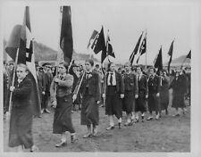 1934 Pro-Hitler Marchers in Saar Press Photo