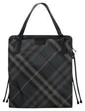 Burberry Tote Buckleigh Nylon Shoulder Bag Shopper Charcoal Nova Check New