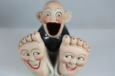 HAPPY FACE FEET SMOKING ASH TRAY HOLDER VINTAGE