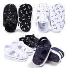 Summer Newborn Baby Boys Kids First Walkers Bebe Anchor Pattern Sandals Shoes