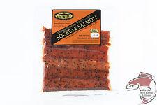 Wild Alaska Smoked Salmon Strips Retort (Shelf-stable) Pouches 4 oz Black Pepper