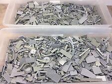 2 POUNDS OF LEGOS Bulk lot Bricks & Parts LBS 100% Lego All Light Grey Parts