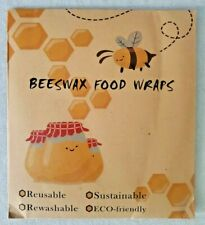 New listing 3 Pack Set Natural Reusable Beeswax Food Wrap Paper Bees Wax Small Medium Large