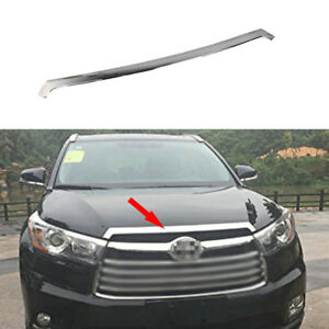 ABS Chrome Front Hood Grill Grille Cover Trim Fit for Toyota Kluger 2014-2019