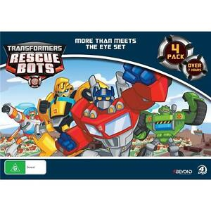 TRANSFORMERS RESCUE BOTS: More Than Meets The Eye Set 4-DVD 7+HOURS BRAND NEW R4