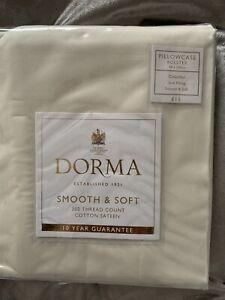 Dorma 300 Thread Count Cotton Sateen Bolster Pillowcase