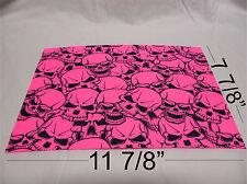 "Kydex Infused Pink Skulls Print Approx 11 7/8"" x 7 7/8 ""  1 Sheet"