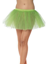 Ladies Fancy Dress 80s 1980s Tutu Neon Green 4 Layers New by Smiffys