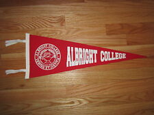 "Vintage 60s ALBRIGHT COLLEGE 23"" Pennant with Tassels"