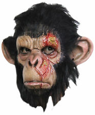 Infected Chimp Latex Mask Monkey Sick Cut Halloween