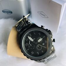 Fossil Bowman Chronograph Black Stainless Steel Men's Watch FS5603