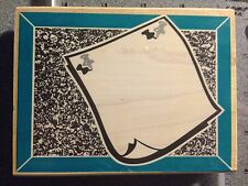 NEW Bulletin Board Frame Wood Mounted Rubber Stamp by Rubber Stampede