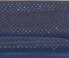 """DARK BLUE Fabric w WHITE Sparkle Polyester?Rayon 45""""wx12""""L Crafts-Dolls-Gifts"""