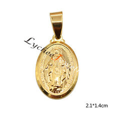 1 Pc DIY Virgin Mary Charm Pendant Mini Gold Blessed Necklace Jewellery Making