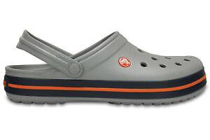 Crocs Crocband Clogs - Light Grey/Navy