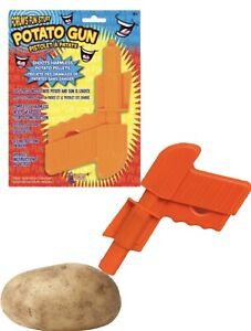 POTATO GUN Power  Kids Toy Pistol Fire Potato Pellets Skins Spud Launcher Trigge