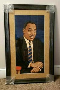 Martin Luther King Jr. Area Rug Flat Woven Accent Rug Home Decoration Framed