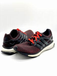 Adidas Energy Boost Reveal M Art 18817 Men's Sz 10.5 Running Shoes Black/Orange