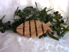 Olivenholz Fisch Untersetzer Topfuntersetzer Handarbeit Baum Holz