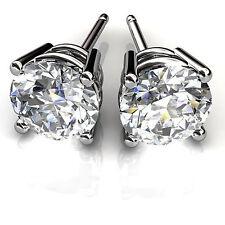 Solitaire 0.50 Ct Diamond Earring Stud 14K White Gold Earrings Jewelry fd678