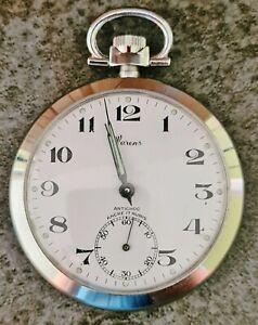 Montre gousset art déco WARENS, fonctionne -WARENS art deco pocket watch, works