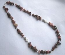 Rhodonite Chips Necklace