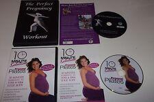 Pregnancy Exercise 2 DVD Lot - Prenatal Postnatal - Perfect Workout & Pilates