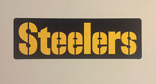 "Pittsburgh Steelers FATHEAD Official Team Banner Sign Graphic 20"" x 6.5"" NFL"