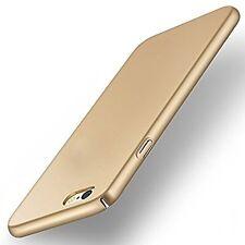 """""""360 Degree"""" Sleek Rubberised Matte Hard Case Back Cover For OPPO F1S Gold"""