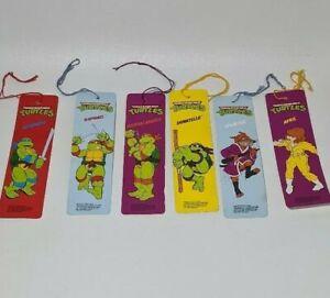 Vintage Teenage Mutant Ninja Turtles Bookmarks 1990 Lot of 6 TMNT Very Rare