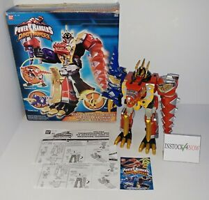 Power Rangers DINO THUNDER Deluxe Megazord 2003 Bandai w/ part of box  *AS IS*