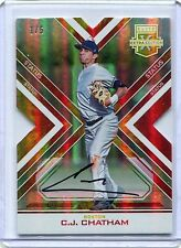 2016 Elite Extra Edition RED REFRACTOR DIE-CUT C.J. Chatham RC AUTO 1/5 Red Sox