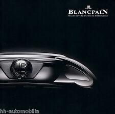 Catálogo de relojes Blancpain 2010 (gb f) Catalog Watches Montres réveil gmt carrousel