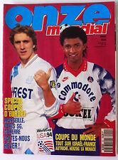 ONZE du 03/1993; Spécial Coupe d'Europe/ Coupe du Monde/ Zinédine Zidane