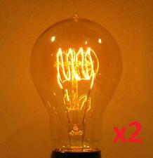 (2) LUMIN 30W A19 Edison Victorian Antique Light Bulbs, Loop Filament, 120V/240V