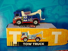 "2016 Matchbox Learning Blox ""T"" URBAN TOW TRUCK☆Blue/Red wrecker; white 6sp☆box"