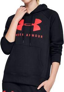 Under Armour Rival Fleece Logo Womens Training Hoody - Black