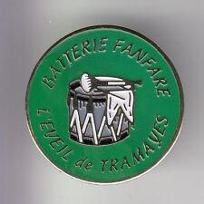 RARE PINS PIN'S .. MUSIQUE FANFARE ORCHESTRE TAMBOUR EVEIL DE TRAMAYES 71 ~DE