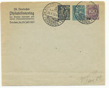 Germany 1923 PPO Dresden Combination Postal Stationery Envelope H&G #88 Philatel