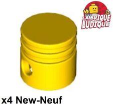 Lego technic - 4x Engine Piston Round moteur motor jaune/yellow 2851 NEUF