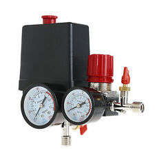90~120PSI Air Compressor Pressure Switch Control Valve Manifold Regulator Gauges
