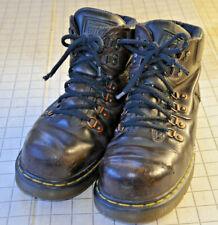 Doc Dr Martens Industrial Burnham Mens Steel Toe Boots Brown Leather Sz 7