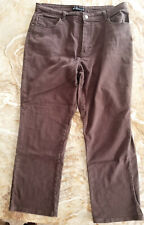 RIDERS by LEE Women's 14 Petite - Brown RELAXED Fit STRAIGHT Leg