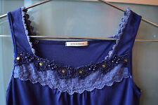 Axes Femme blue lace cami top ~ M ~ NEW ~ Japan ~ Lolita ~ kawaii ~ Harajuku