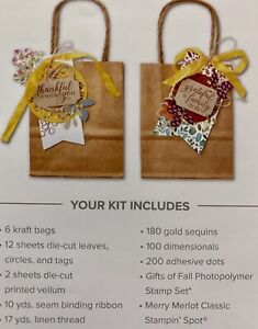"New! Stampin' Up! Paper Pumpkin Kit ""The Gift of Fall"" August 2019"