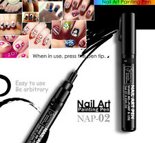 16 Colors Women Delicate Beauty Nail Art  Pen Polish DIY Design Manicure Tool